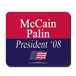 """McCain-Palin for President"" Mousepad"