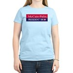 """McCain-Palin"" Women's Pink T Shirt"