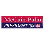 """McCain-Palin"" Bumper Sticker (10)"