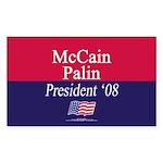 """McCain-Palin"" Rect Sticker (10)"