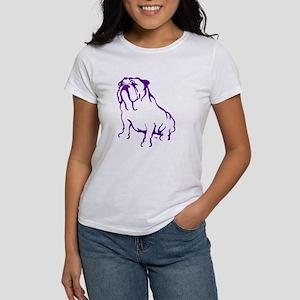 Bulldog Logo Purple Women's T-Shirt