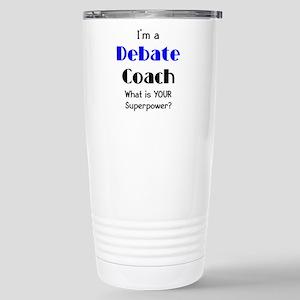 debate coach Stainless Steel Travel Mug