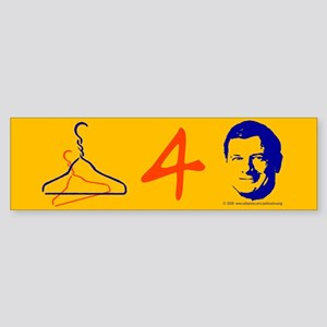 Wire hangers for Roberts. Bumper Sticker