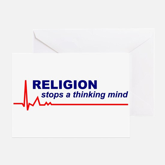 Religion Stops a Thinking MindGreeting Card