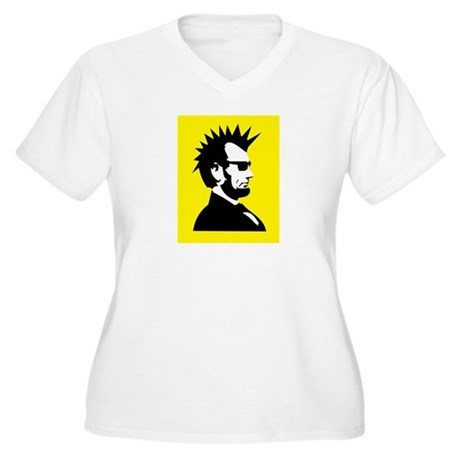 Abraham Lincoln Rocks! Women's Plus Size V-Neck T-