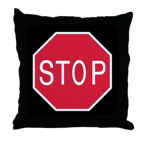 Stop Sign - Throw Pillow