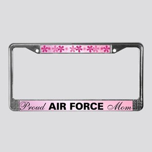 Proud Air Force Mom License Plate Frame