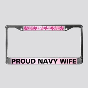 Proud Navy Wife License Plate Frame