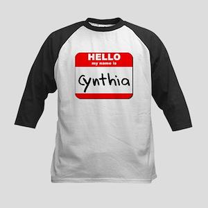 Hello my name is Cynthia Kids Baseball Jersey
