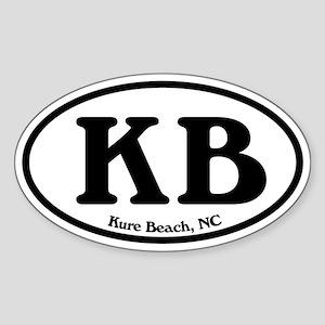 Kure Beach KB Euro Oval Oval Sticker