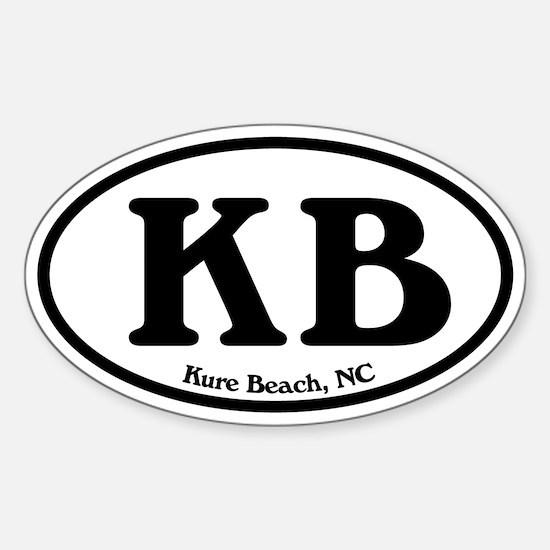 Kure Beach KB Euro Oval Oval Decal