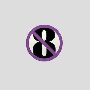 NO ON 8 Purple Mini Button