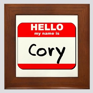 Hello my name is Cory Framed Tile