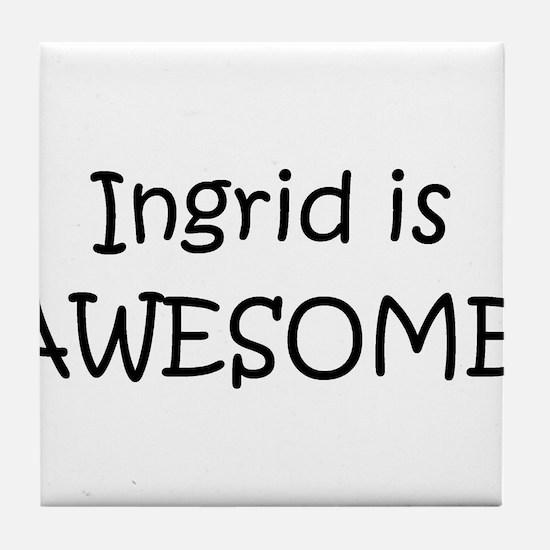 Cute Ingrid Tile Coaster