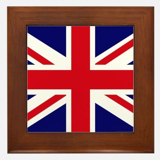 British Flag Union Jack Framed Tile