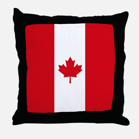 Canadian Flag Throw Pillow