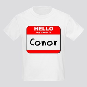 Hello my name is Conor Kids Light T-Shirt