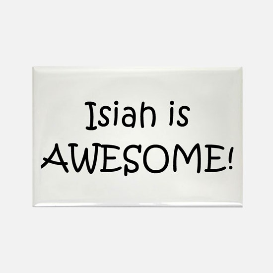 Funny Isiah name Rectangle Magnet