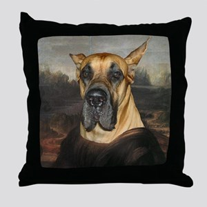 Great Dane MONA LISA Throw Pillow