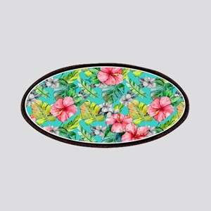 Tropical Watercolor Floral Patch