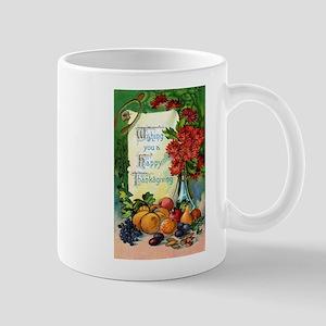 Vintage Happy Thanksgiving Greetings Mug