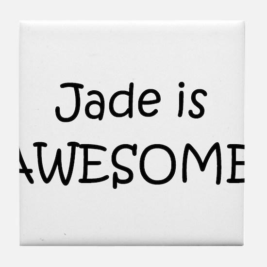 Cute Jade Tile Coaster