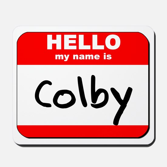 Hello my name is Colby Mousepad