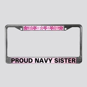 Proud Navy Sister License Plate Frame