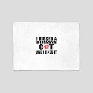 I Kissed Birman Cat 5'x7'Area Rug