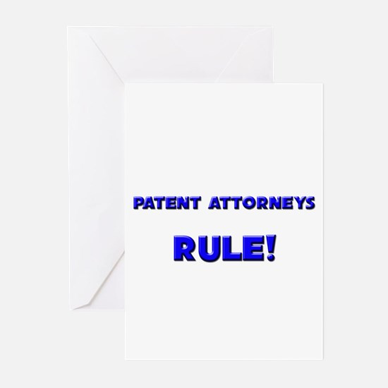 Patent Attorneys Rule! Greeting Cards (Pk of 10)