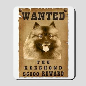"""""""Wanted"""" Keeshond Mousepad"""