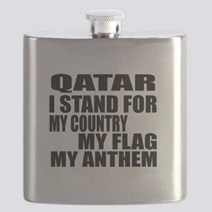 I Stand For Qatar Flask