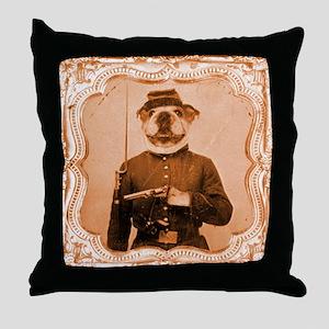 Bulldog LEFTY Throw Pillow