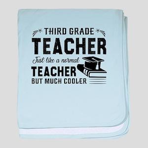 3rd Grade Teacher baby blanket