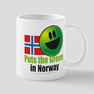 Puts the Green in Norway Mug