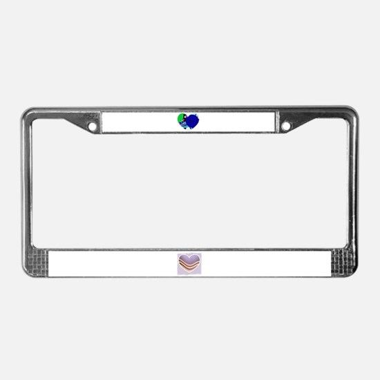 sweet heart design License Plate Frame