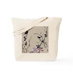 Birds & Cherry Blossoms Reusable Tote Bag