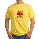 Obama Big Luv for Big Gov Yellow T-Shirt