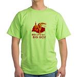 Obama Big Luv for Big Gov Green T-Shirt