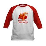 Obama Big Luv for Big Gov Kids Baseball Jersey