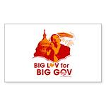 Obama Big Luv for Big Gov Rectangle Sticker 10 pk