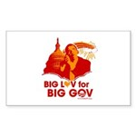 Obama Big Luv for Big Gov Rectangle Sticker 50 pk