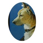 Rescue Dog Oval Ornament