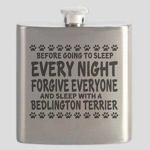 Sleep With Bedlington Terrier Dog Flask