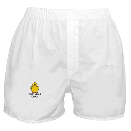 Disc Golf Chick Boxer Shorts