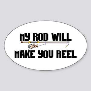 My Rod & Reel Oval Sticker