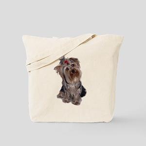 yorkie portrait Tote Bag