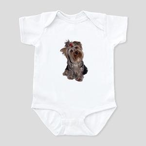 yorkie portrait Infant Bodysuit