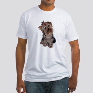 yorkie portrait Fitted T-Shirt