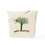 Not Plastic Reusable Canvas Tote Bag